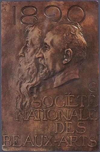 11. Alexandre Charpentier,  Société Nationale des Beaux Arts ,  1890 . Cast bronze. 252 x 165 mm. Private Collection, U.S.A.