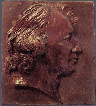 2. Pierre-Jean Pierre-Jean David D'Angers,  Pierre-François, Comte de Réal.  Original wax relief on slate. 135 x 122 mm. Private Collection, U.S.A.
