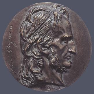 4. Pierre-Jean David D'Angers,  Niccolo Paganini , 1834. Cast bronze. Diam.: 150 mm. Private Collection, U.S.A.