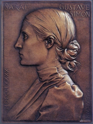 6. Jules Clement Chaplain,  Sarah Gustave Simon , 1890. Cast bronze. 215 x 160 mm. Private Collection, U.S.A.