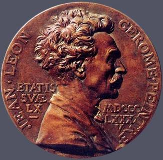 7. Jules Clement Chaplain,  Jean-Léon Gérome , 1885. Cast bronze. Diam.: 100 mm. Private Collection, U.S.A.