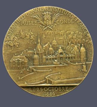 8b. Jules Clement Chaplain, Reverse,  Henri d'Orléans, duc d'Aumale . Cast bronze. Diam.: 100 mm. Private Collection, U.S.A.