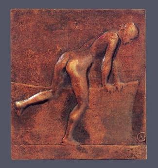 13a. Alexandre Charpentier,  Le Bain . Cast bronze. 153 x132 mm. Private Collection, U.S.A.