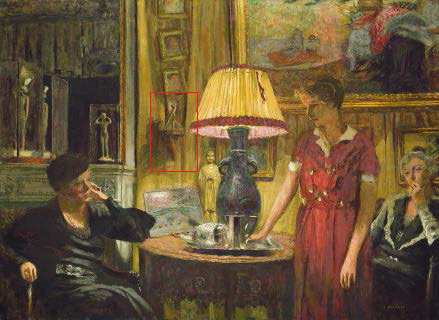 Fig. 1. Edouard Vuillard, The Visit, mixed media on canvas, 1931, National Gallery of Art, Washington, DC.