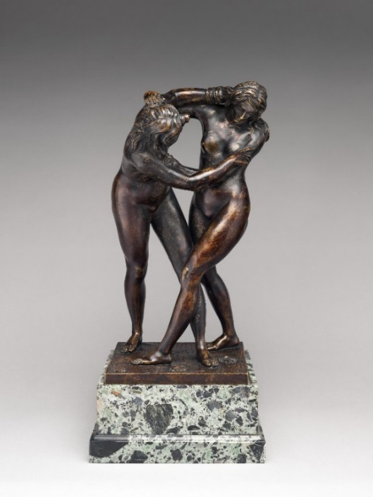 Fig. 2. Attributed to Ferdinando Tacca, Two Women Wrestling, bronze, last quarter 17th century, The Metropolitan Museum of Art, New York, NY.