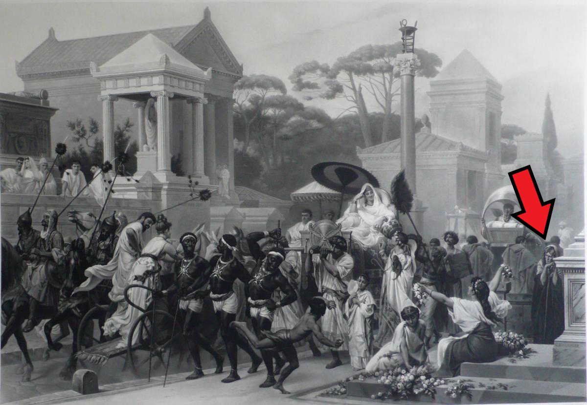 Fig. 1 – Via Appia, at the Time of Augustus, engraving after painting by Gustave Boulanger
