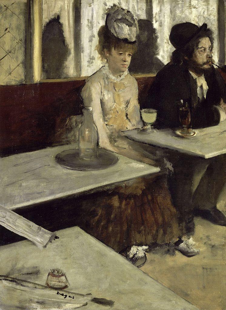 Fig. 1. Edgar Degas, L'Absinthe, 1875-1876, Musée d'Orsay, Paris.
