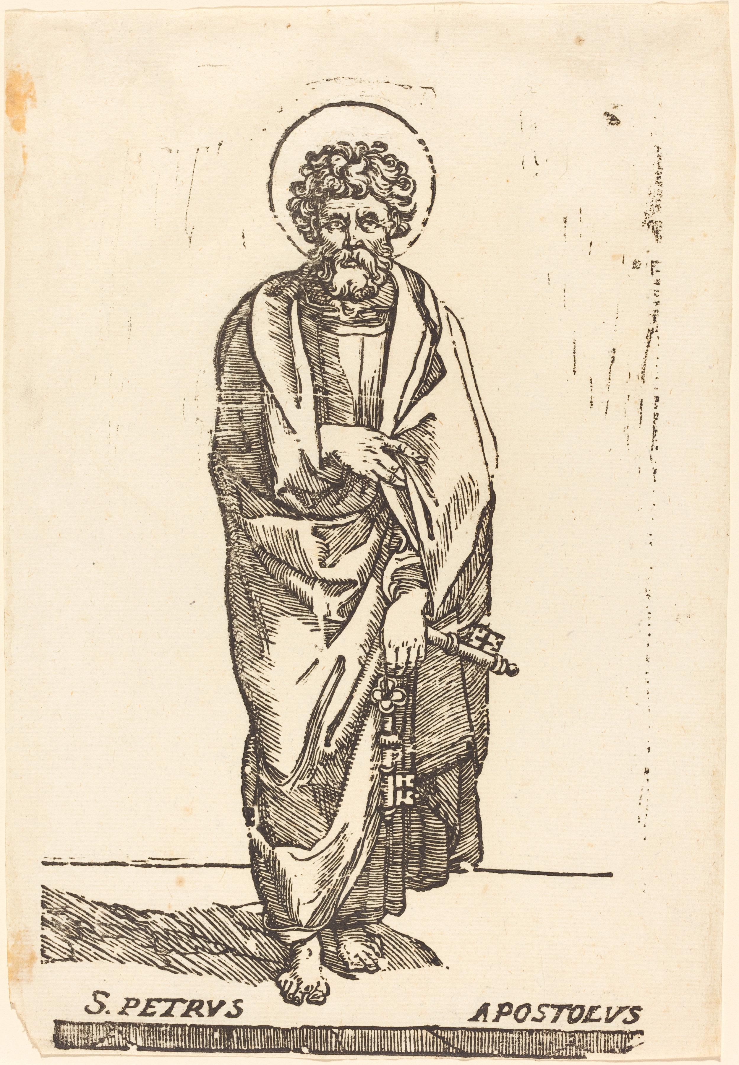 Fig. 3. Jacques Stella,  Saint Peter , woodcut, National Gallery of Art, Washington, DC