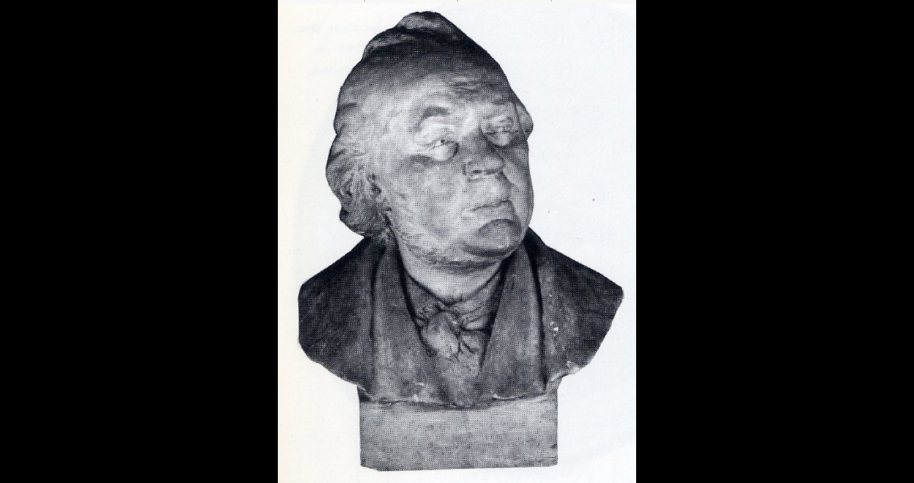Fig. 2. Adolphe Louis Geoffroy-Dechaume,  Honoré Daumier , plaster bust, 1889, private collection.