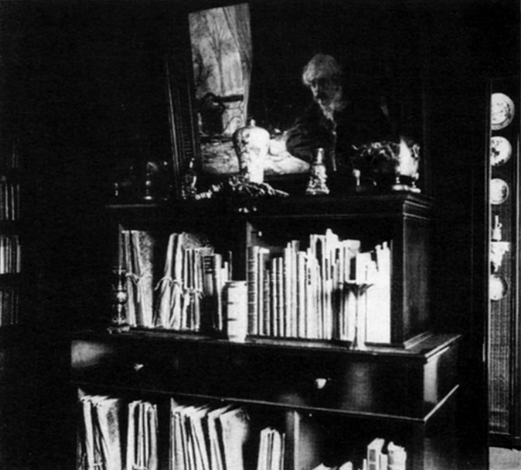 Fig. 1. In this image, Edmond is standing in front of the cabinet, as reflected in a mirror.