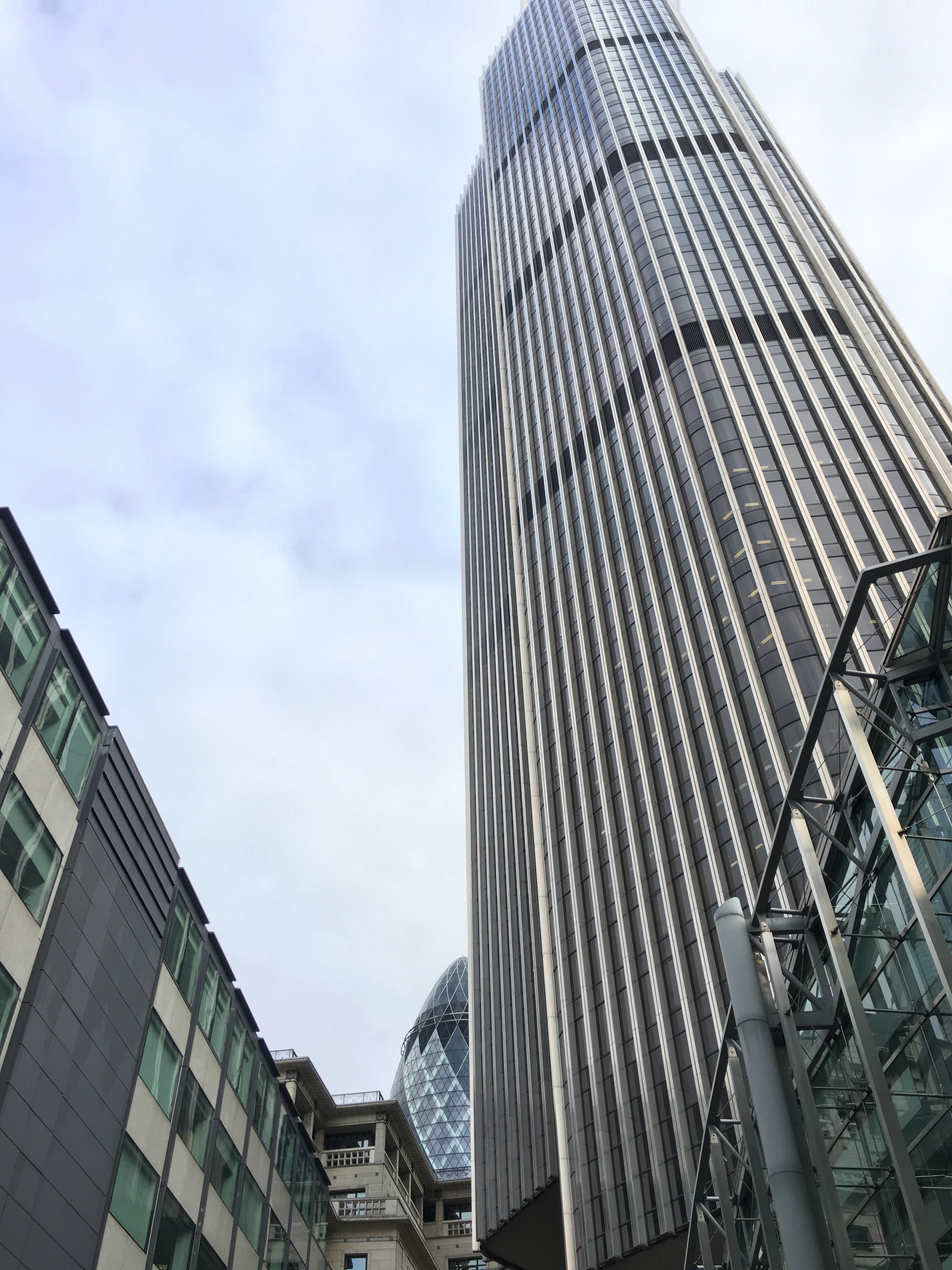 Tower 42 (with the Gherkin in the background)