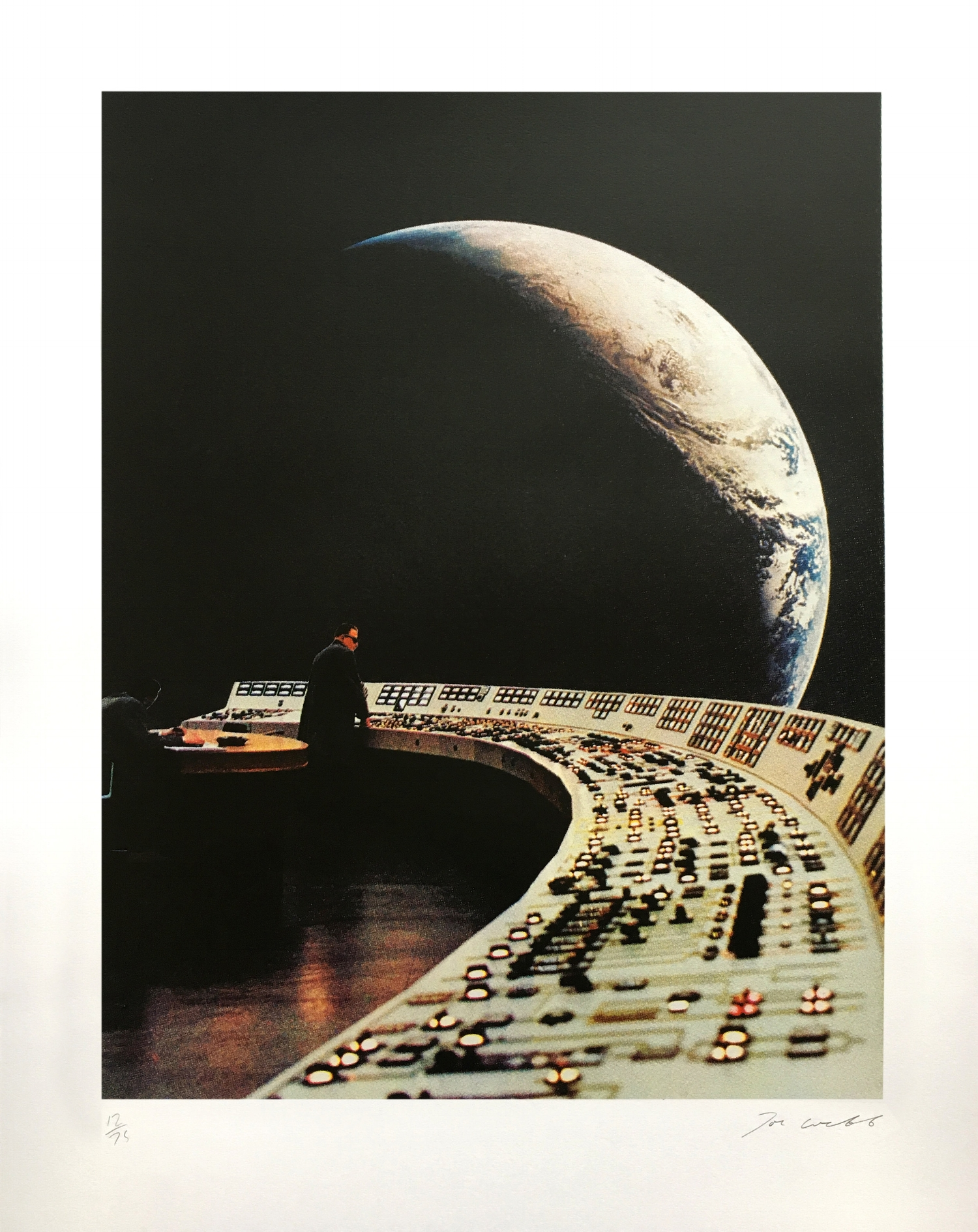 Image: Control Panel by Joe Webb - to be shown at Edit, Adapt and Evolve, Royal Over-Seas League, Mayfair.