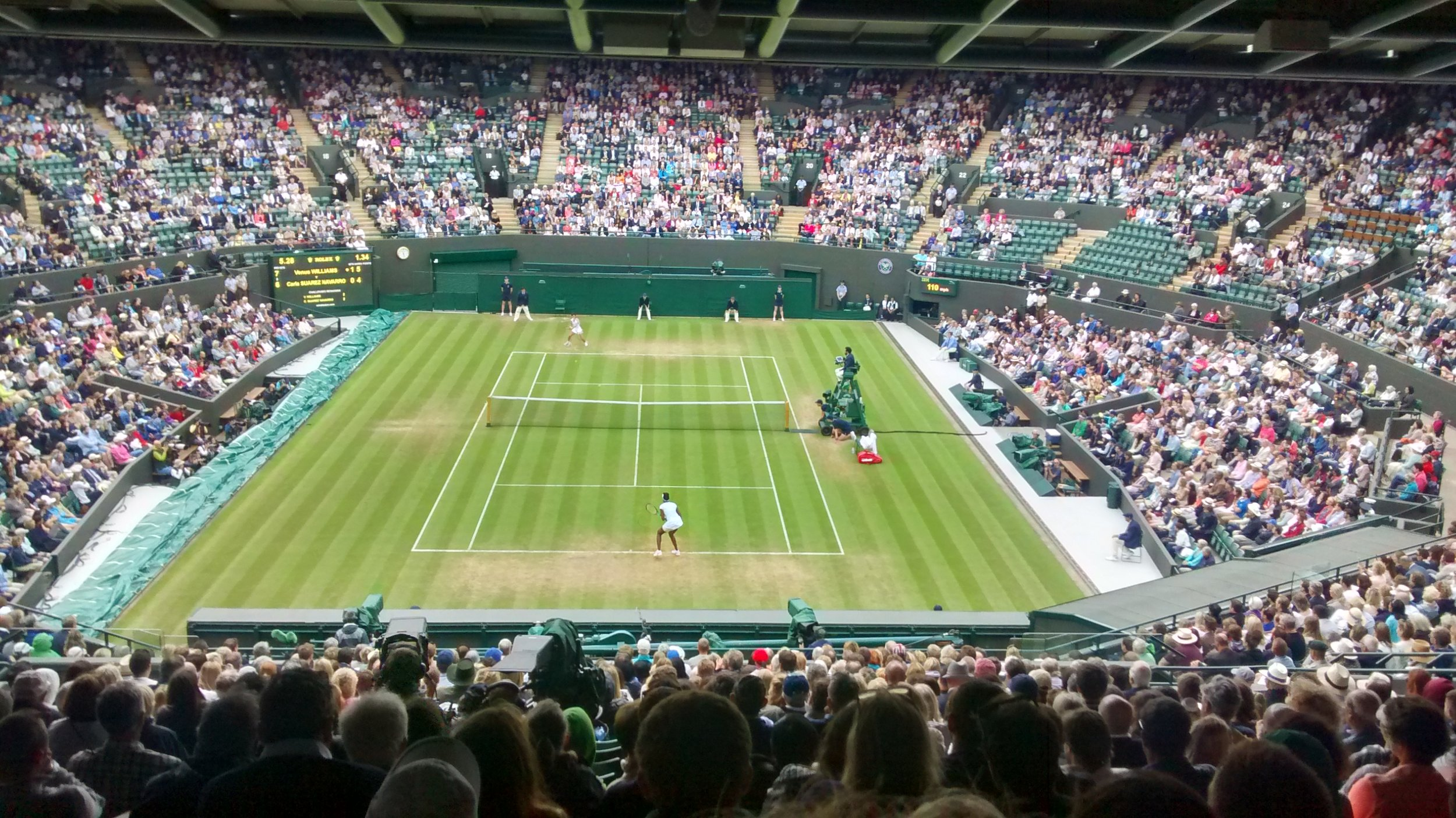 Resale Tickets to the best courts - Later in the day we can buy resale tickets to the two best courts to see the very best players in the world for only £10 extra!(Picture: Resale tickets to see Venus Williams two year's ago)
