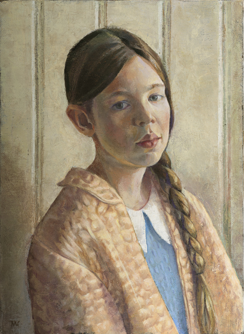 """'Poppy Daniels' oil on linen.40x30cm (16""""x12""""). Private collection."""