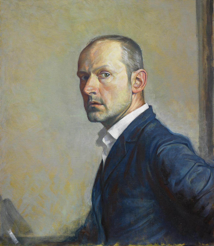 """'Self Portrait after GSW'oil on linen 75x65cm (30""""x26"""")."""