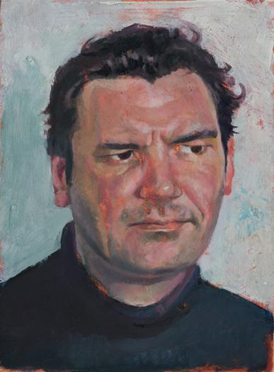 "'Charlie Burt' oil on gesso panel 20x15cm (8""x6"")."