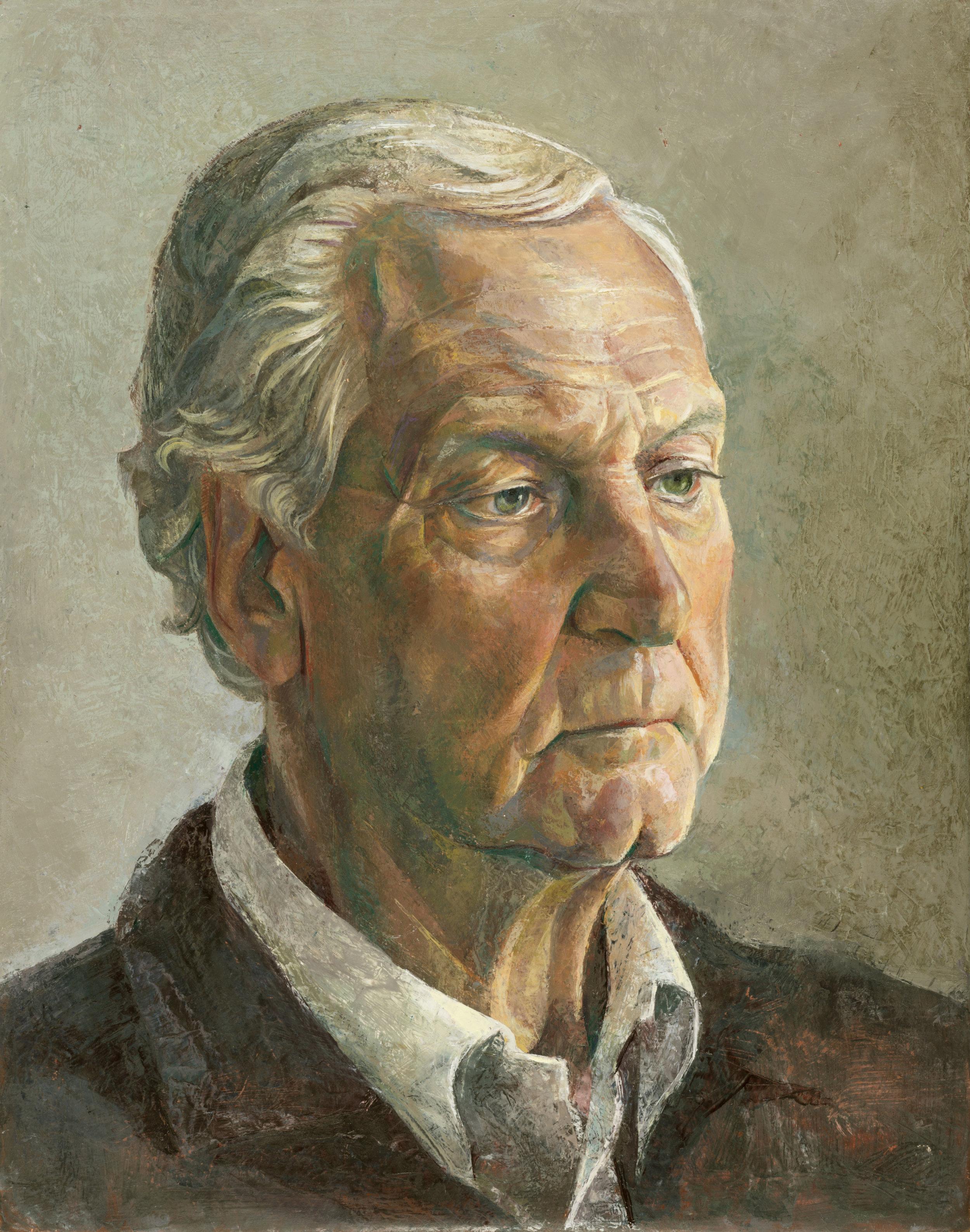 'Portrait of Dad' 47x40cm oil on gesso panel