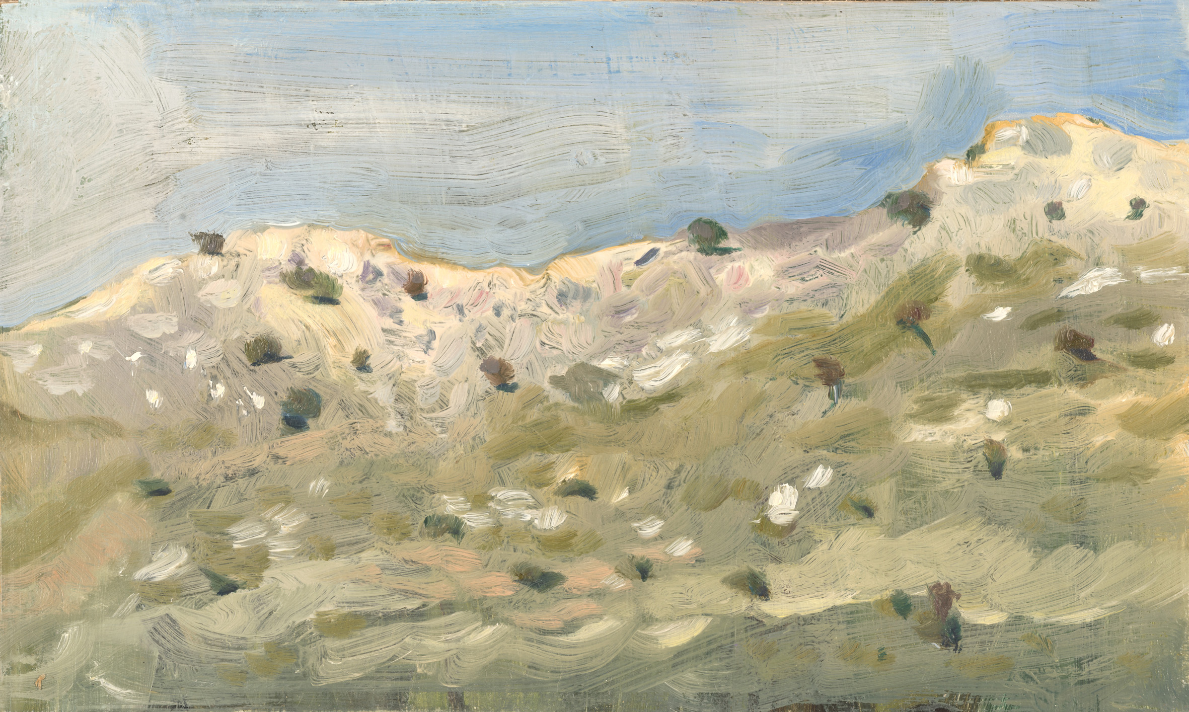 'In the dolines on top of Mt. Sagias' oil on board 15.5 x 25.5 cm