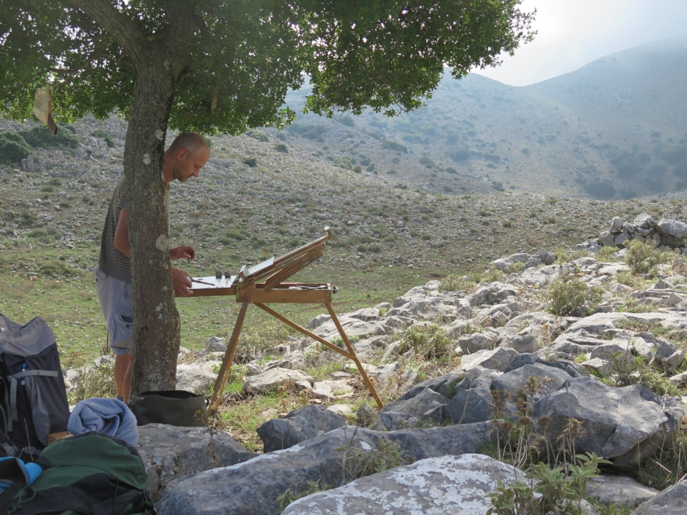 - 'When God had finished making the world, he had a sack of stones left over and he emptied it here...' Patrick Leigh Fermor, Mani-Travels in the Southern Peloponnese