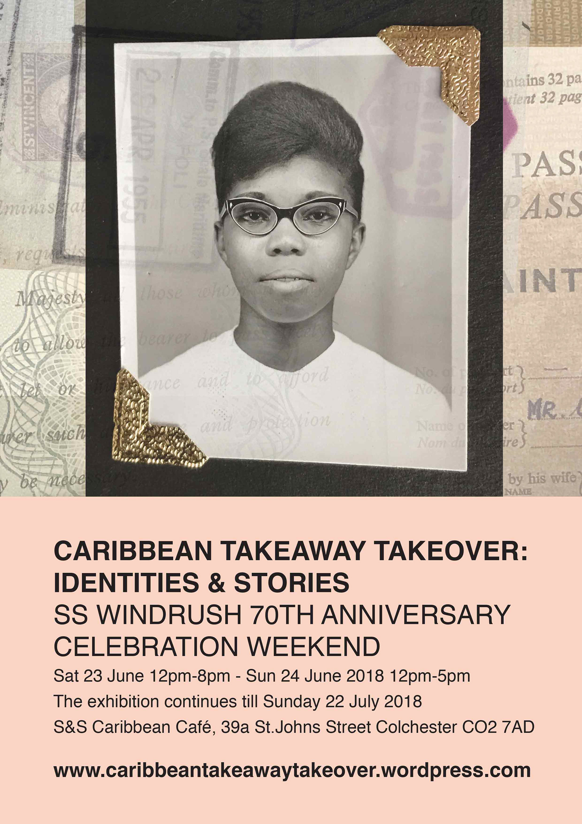 Caribbean Takeaway Takeover Poster design 01 produced by ESP