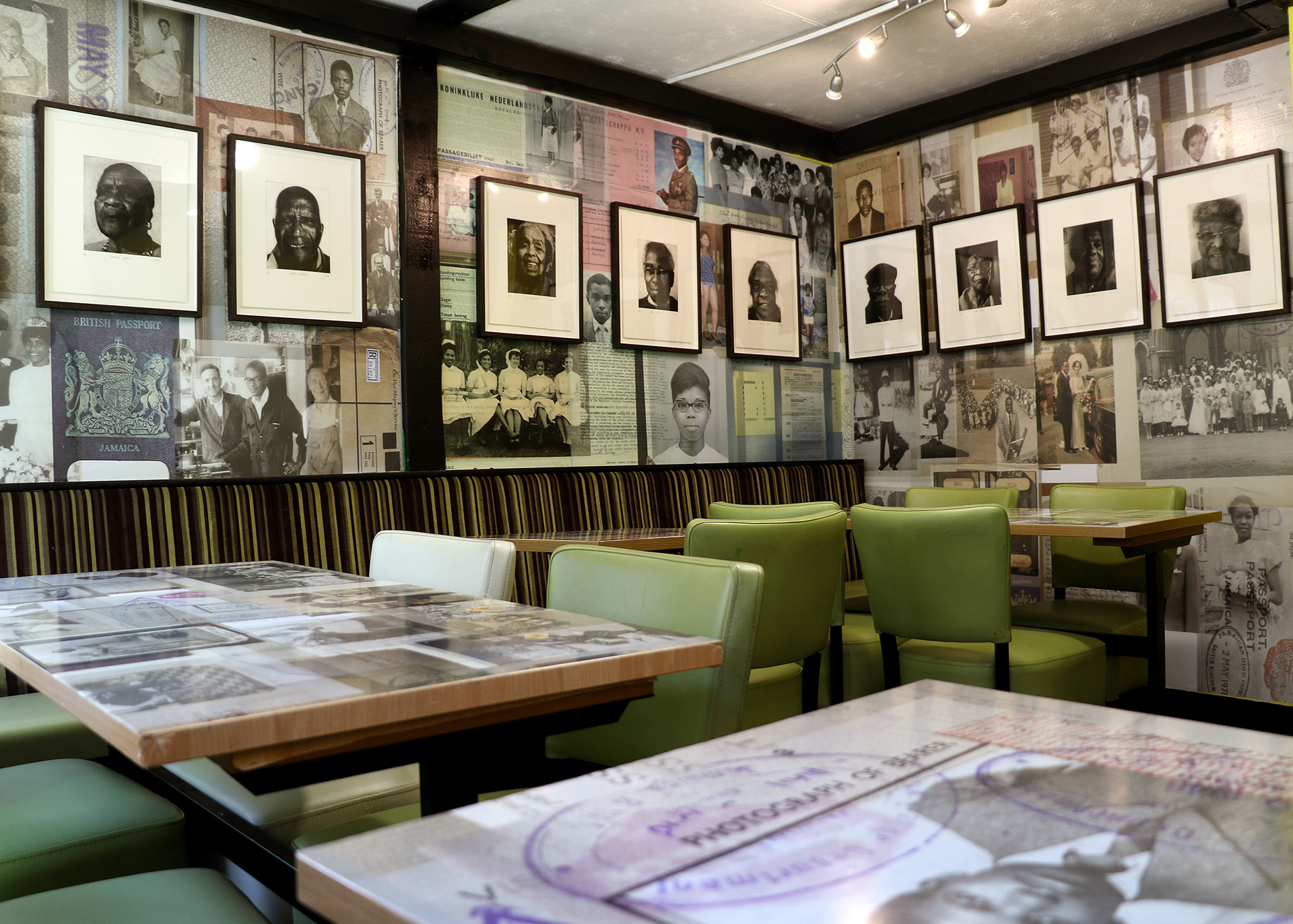 Caribbean Takeaway Takeover all the wall and table artwork produced by ESP as the backdrop to the stunning etchings.