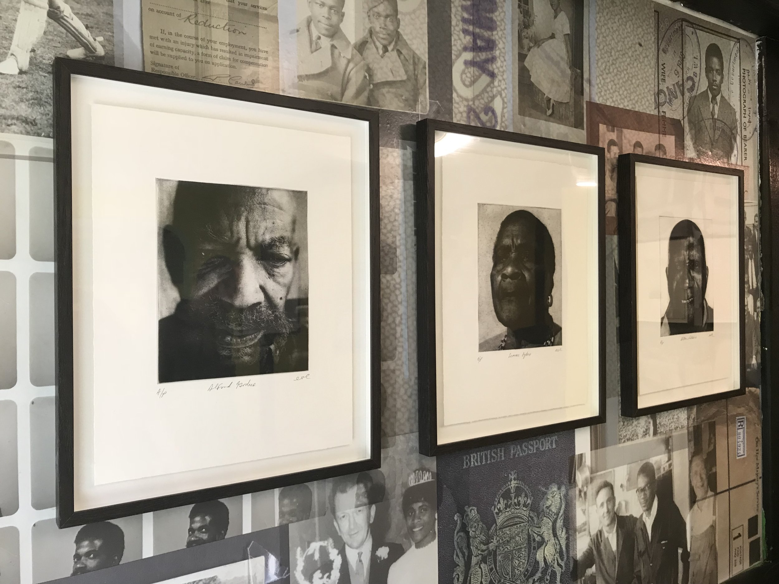 Caribbean Takeaway Takeover, Photo Etching produced by artist EVEWRIGHT