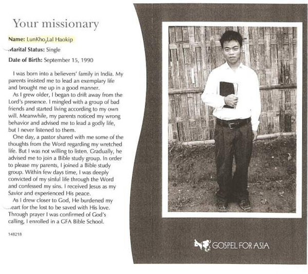 Lal Haokip LunKho () – Gospel for Asia