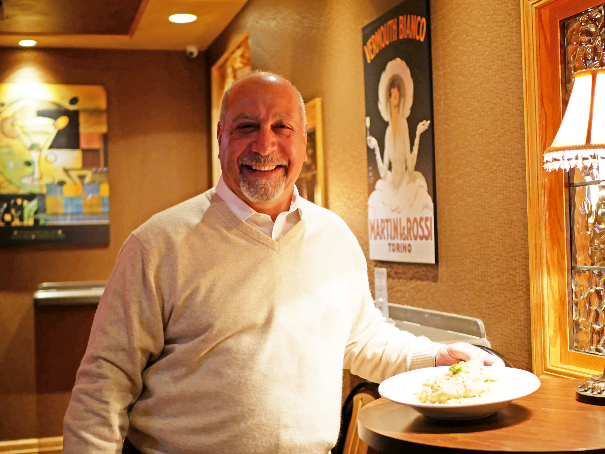 Owner Peter Calieri helps renovate the restaurant years ago