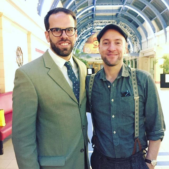 "With Derren Brown after his show ""Miracle"" in Blackpool."