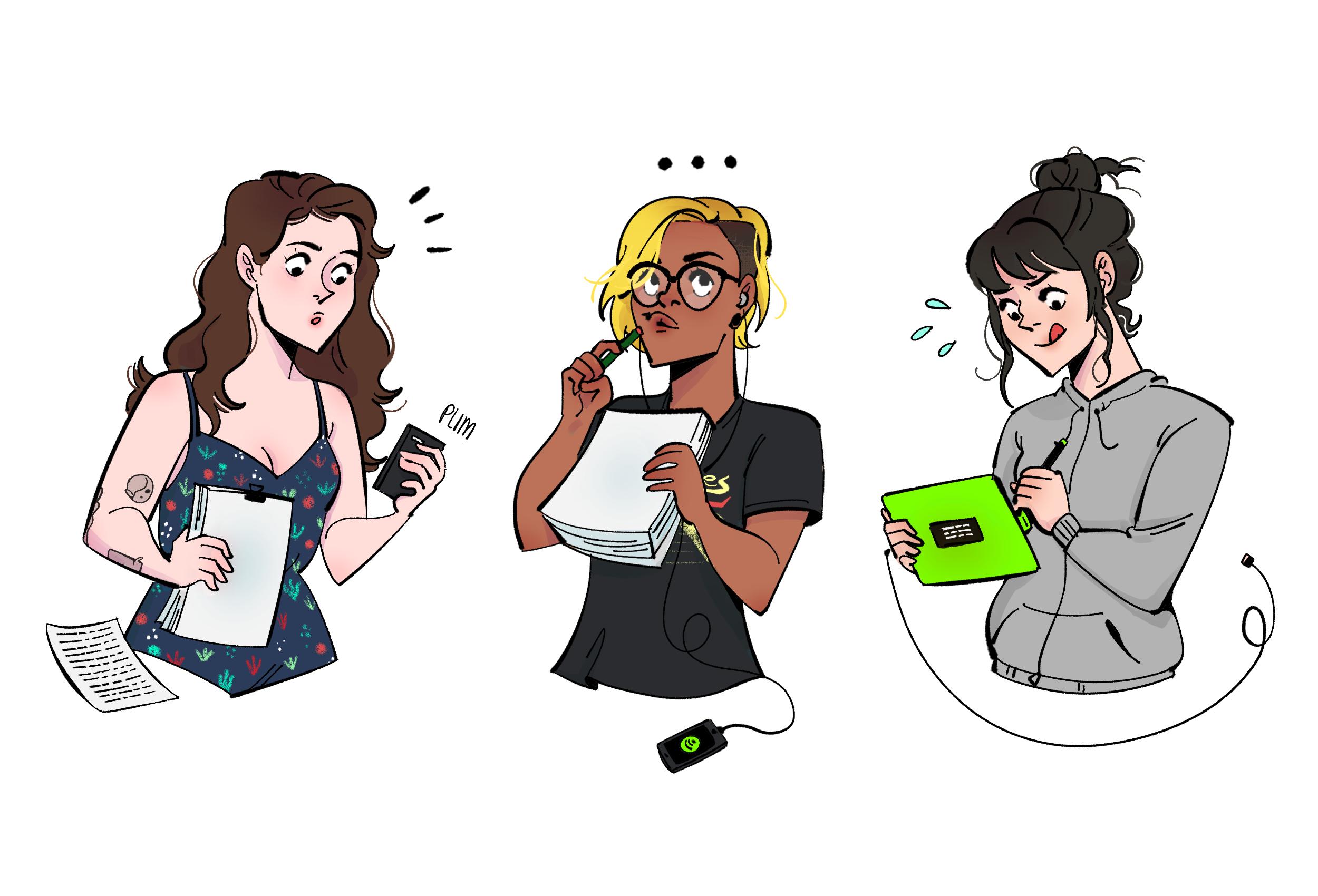 Follow the creators online for updates about the project:  Stephanie ( @hellocookie ) / Insha ( @benwyatt ) / Juliana ( @notjulianamoon )