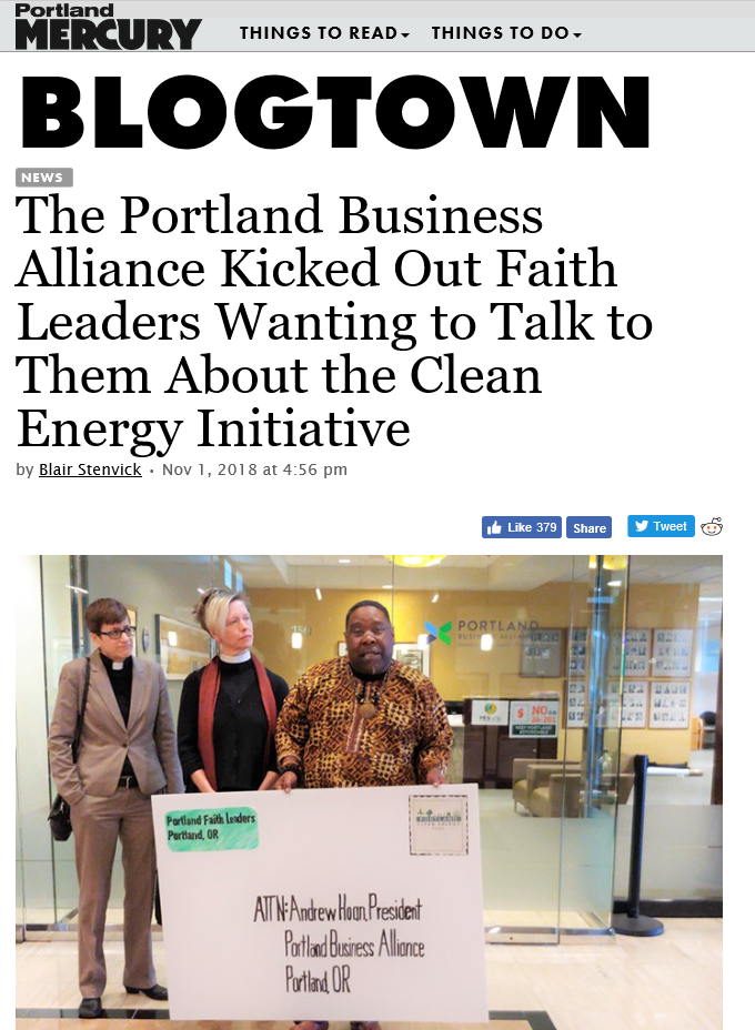 Portland Business Alliance Kicked Out Faith Leaders