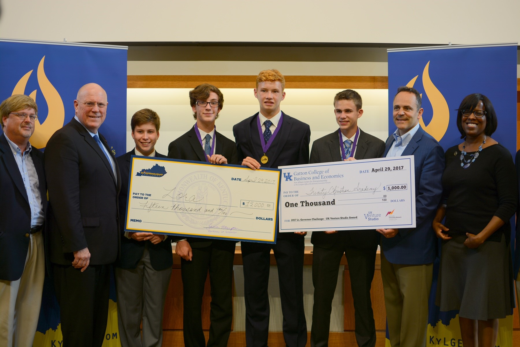 The third-place team, Zora, was from Fayette County and won $15,000 in scholarships. Their company proposed a business idea involving drone technology and digital production.