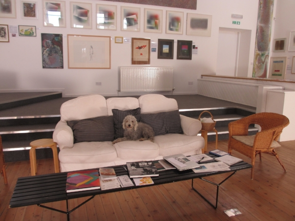 Pip in charge of the Gallery as usual and greatly enjoying it all