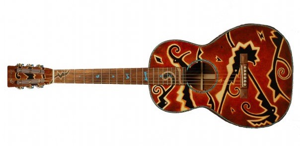 Collaboration with Martin guitars. Sold at auction at Christie's of New York for 18,500.00