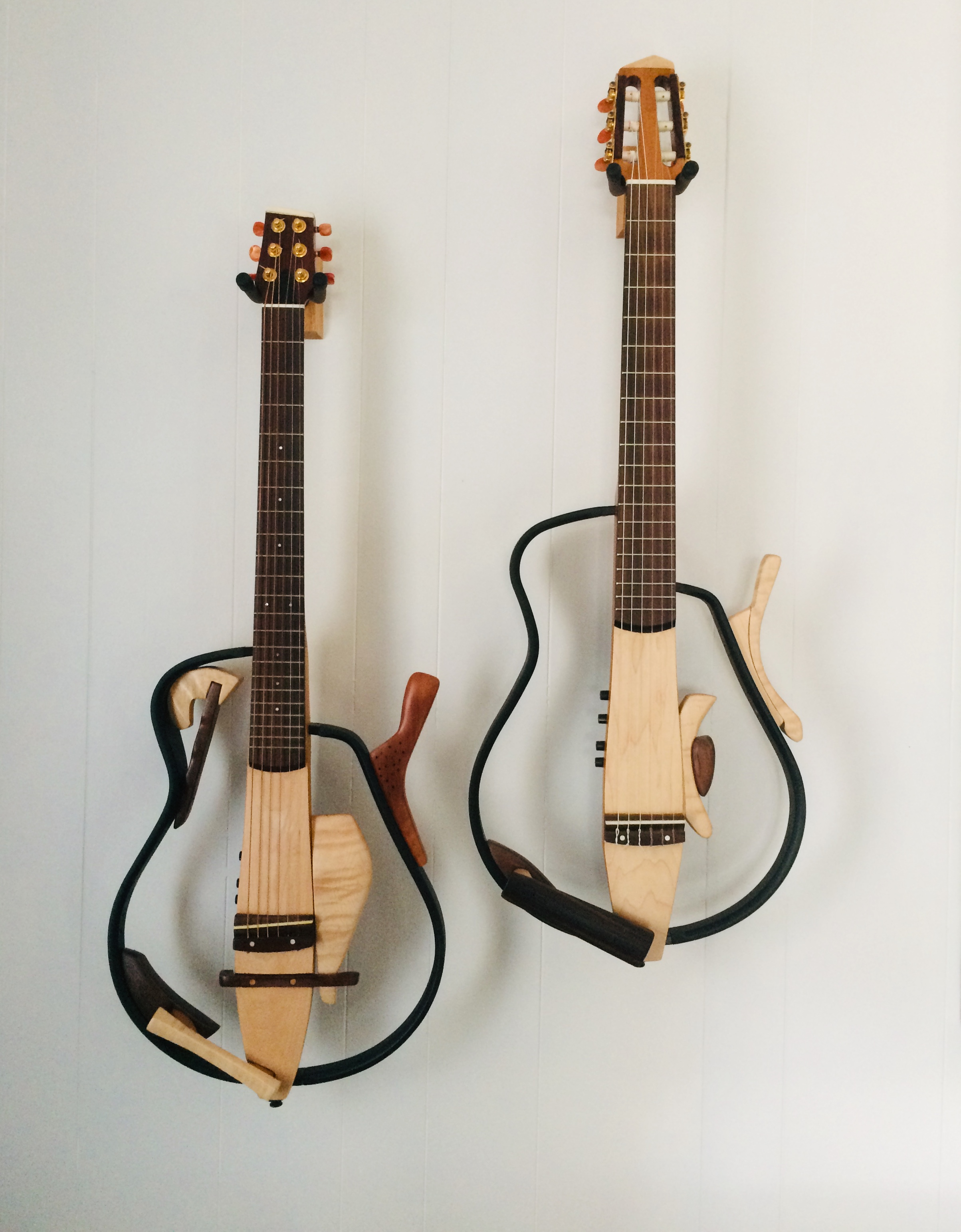 Two redesigned Yamaha Silent guitars……$1800.00 each