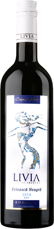 Feteasca Neagra   This wine stands out through an intense red colour with ruby nuances. Its complex aroma balances out perfectly with its low acidity. It is a robust wine, velvety, with a persistent taste of blackberries, cinnamon and blueberries.