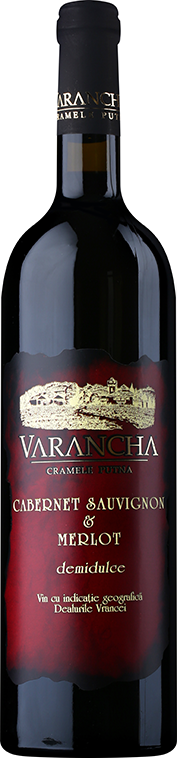 Cabernet Sauvignon & Merlot   A wine with an intense purple colour. The aroma is made of wild berries, with faint signs of vanilla which integrates perfectly with the alcohol and acidity. A semi sweet wine, complex, that can satisfy all tastes.