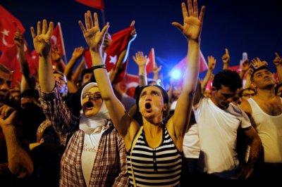 Turkish coup rallies.
