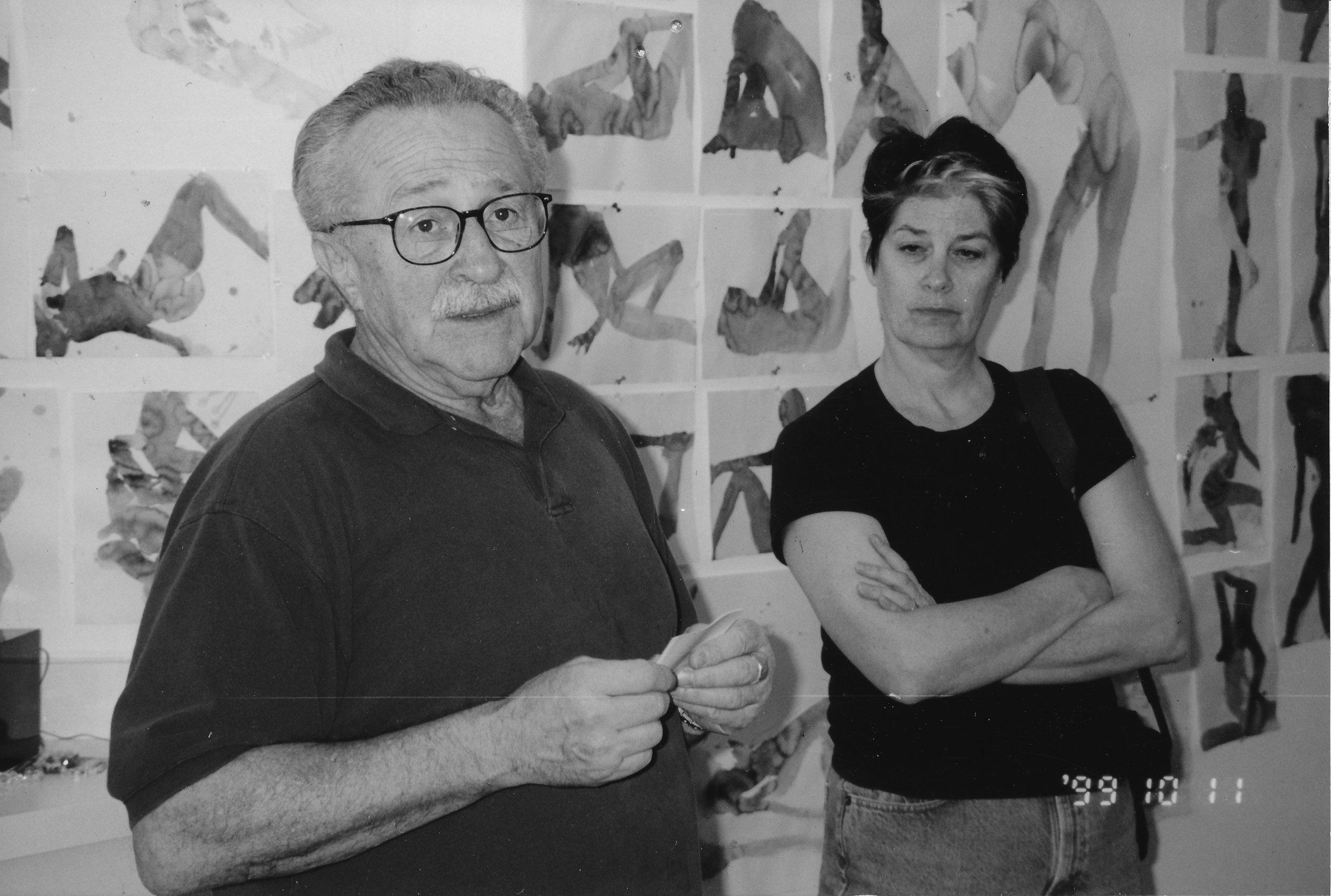 CATHERINE SKINNER & NATHAN OLIVEIRA AT SANTA FE ART INSTITUTE, 1999