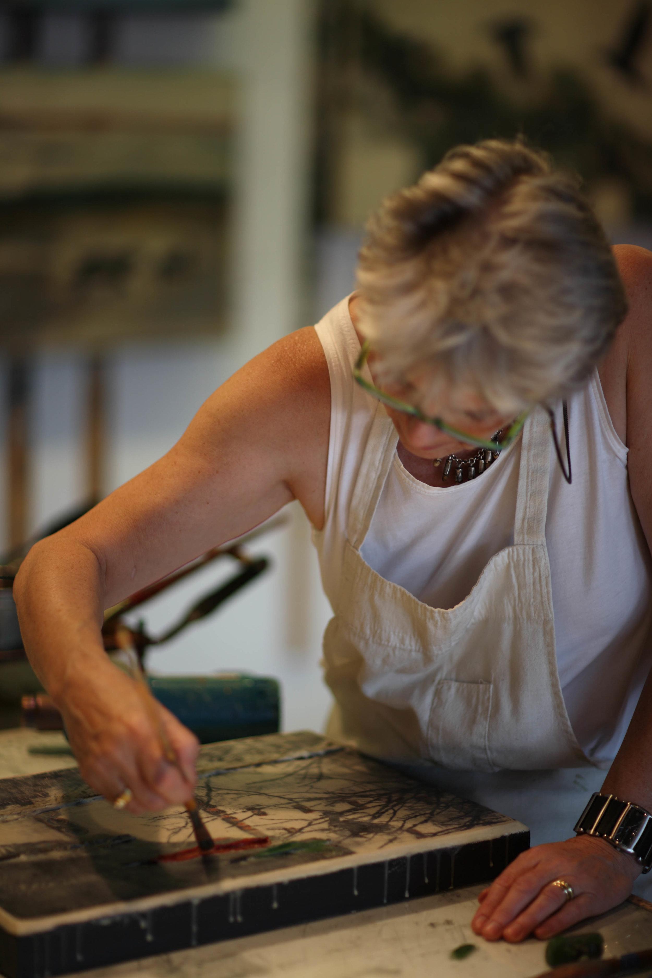 SKINNER WORKING IN SEATTLE STUDIO