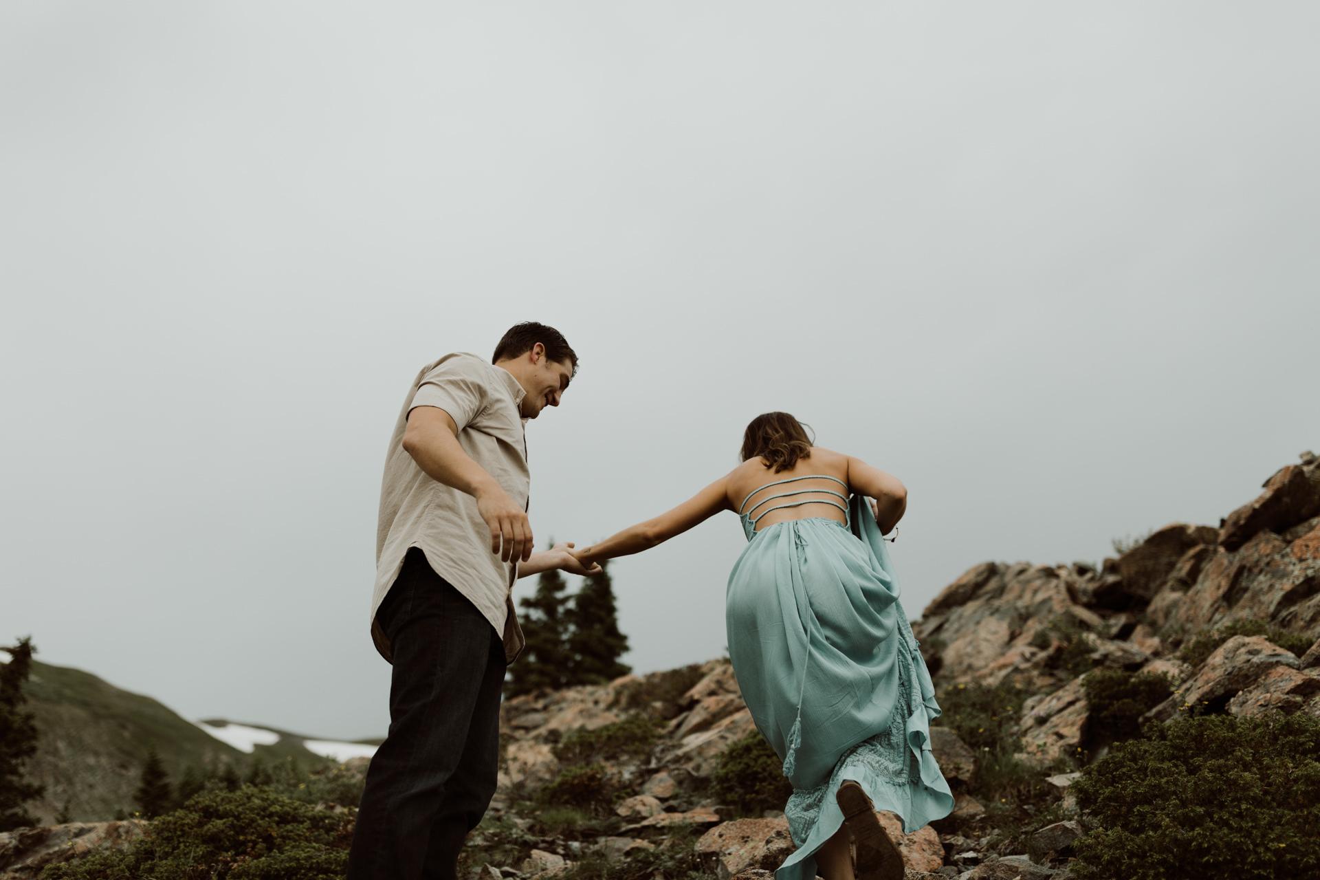 Cottonwood Pass Engagement session // Buena Vista Wedding