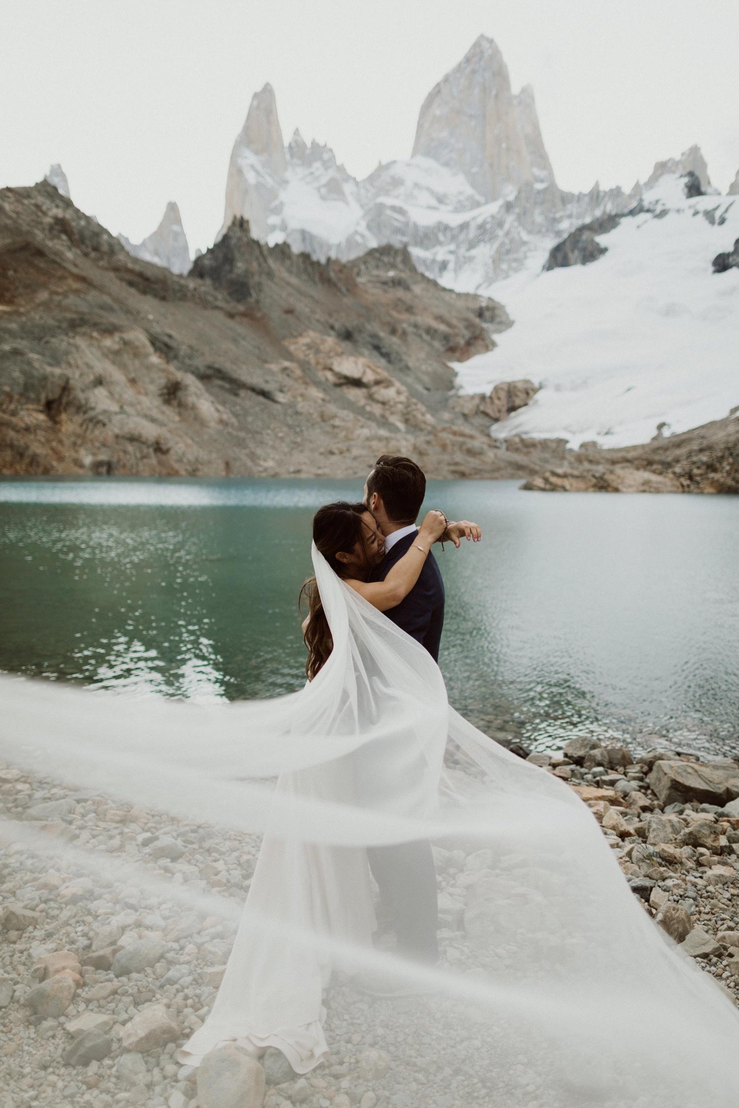 adventure bridals in patagonia