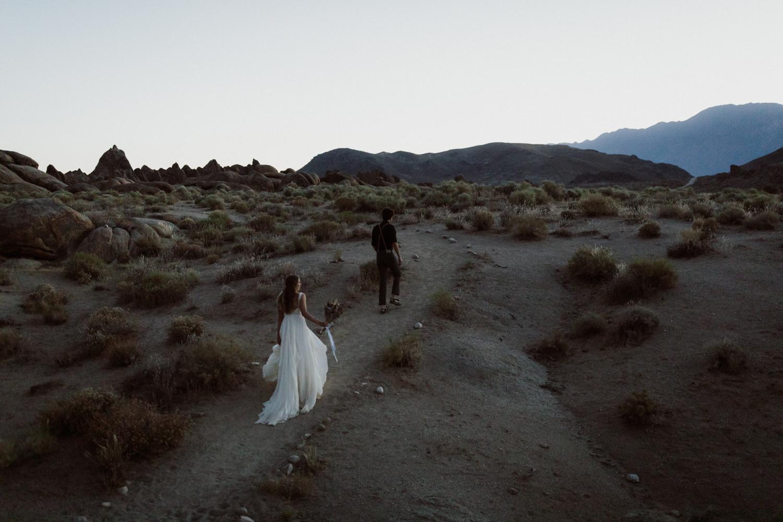 Intimate Wedding in Alabama Hills California