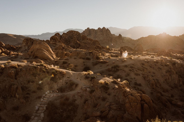 Sunrise desert wedding