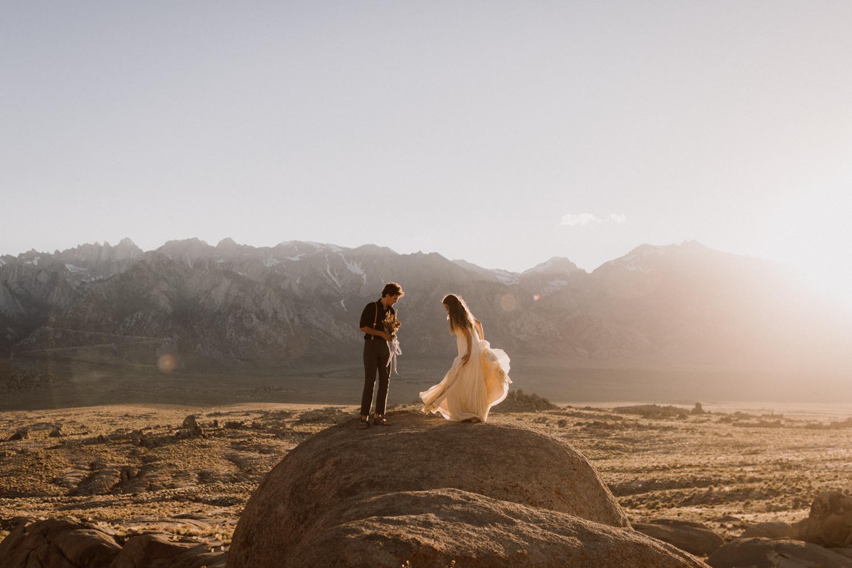 Alabama Hills California elopement