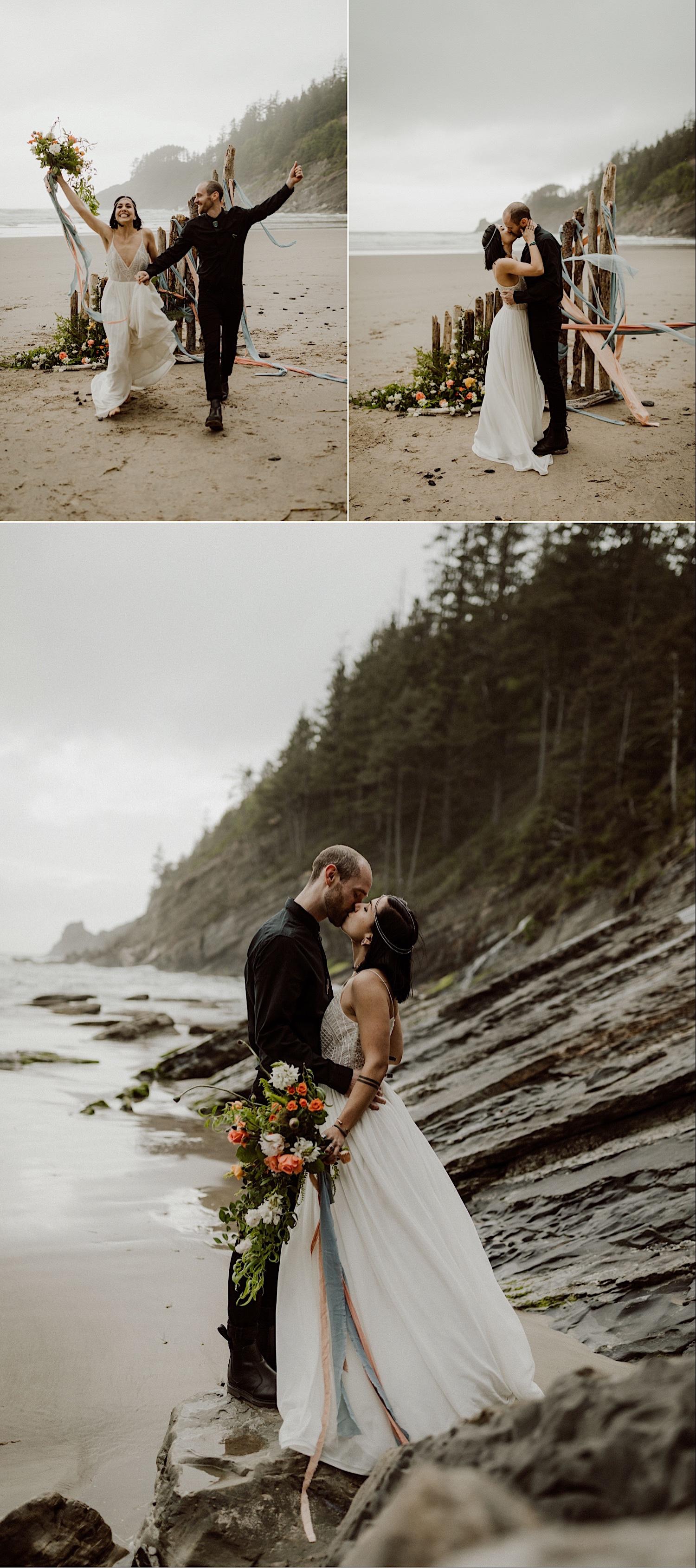 Oregon coast wedding photo inspiration