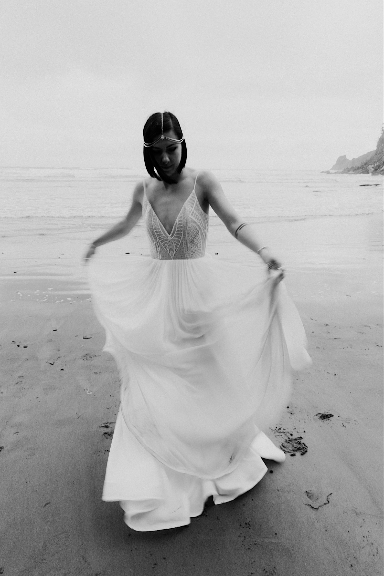 Wedding dress for adventure brides