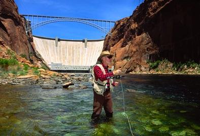 Figure 37.  Glen Canyon Dam, Colorado River.