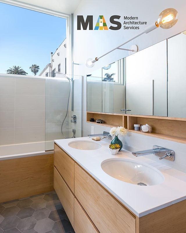 The kind of bathroom that makes you want to wake up in the morning. #myrtlehouse #myrtleproject #MAS #MASmodern #ModernArchitectureServices #hillcrest #hillcrestarchitecture #hillcrestrealestate #realestate #sandiego #sandiegoarchitecture #sandiegorealestate #architecture #architecturephoto #architecturalphotography #architecturelovers