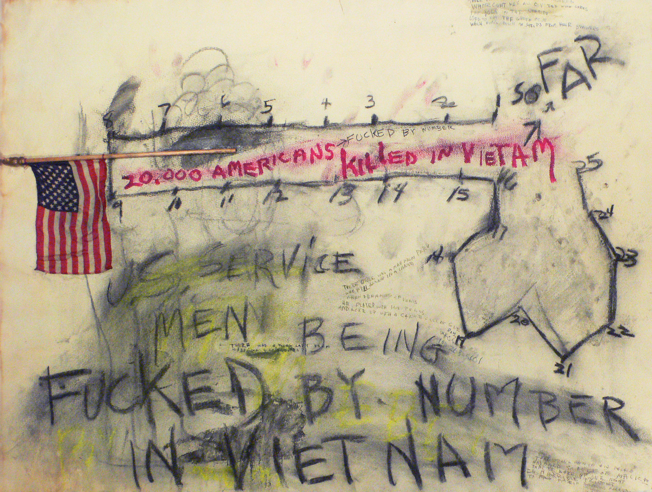 Fucked By Number 1966 charcoal & mixed media on paper 22x30 inches 2.jpg